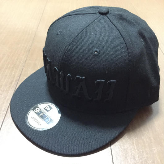 "808ALLDAY ""HAWAII PABLO OE"" BLACK ON BLACK Hat"