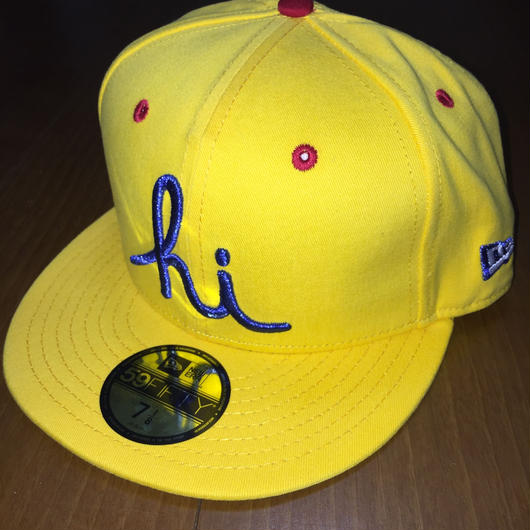 "IN4MATION ""hi "" Logo NEW ERA 59fifty fitted Hat"