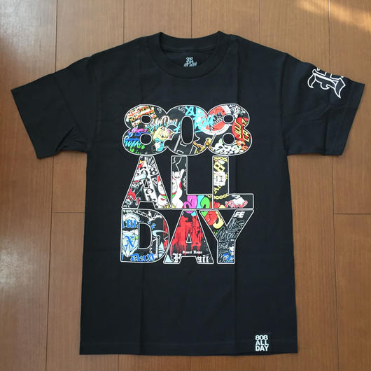 "808ALLDAY STACK ""10YEAR MASH UP"" Tee"