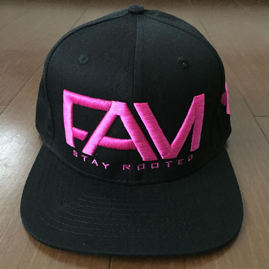 "FAM HAWAII ""LOGO"" Hat Black / Pink"