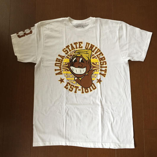 "POLY LOVE HAWAII ""NEW KANAKA"" WHT TEE"