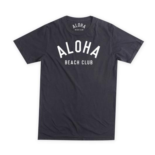 ALOHA BEACH CLUB ロゴ Tee  ブラック