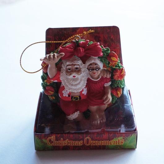 ハワイアン クリスマスオーナメント Mr.&Mrs Claus