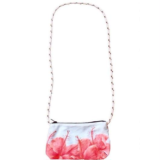 THE SURF COUTURE HONOLULU クロスボディバッグ/ポシェット  Red  Hibiscus