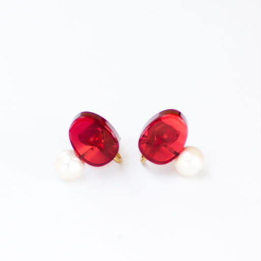 Sur/earrings SR-EA3(RD)