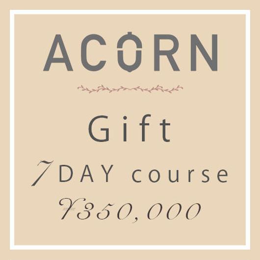 ACORN private salon Gift 「7DAY course」