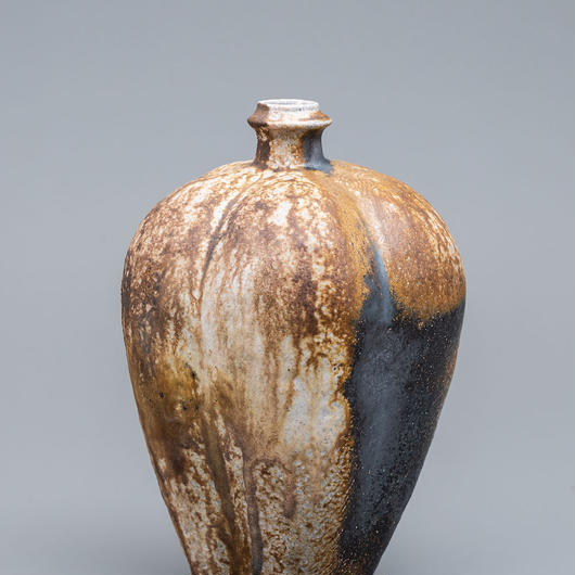 No.5:YOHEN Natural Ash Glaze Vase「窯変灰被瓶子(瓜型梅瓶)」