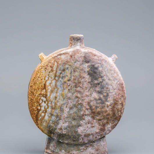 No.3:YOHEN SHINO Rectungular Vase「耀変志埜扁壷(タイコ大)」