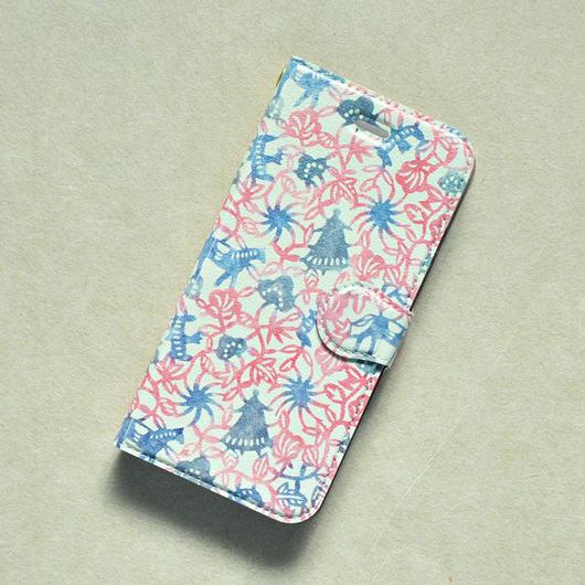 iPhoneX用ケース 手帳型 春を待つ