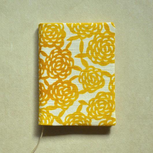 型染布ブックカバー(文庫本サイズ)|無量花 山吹(単色)