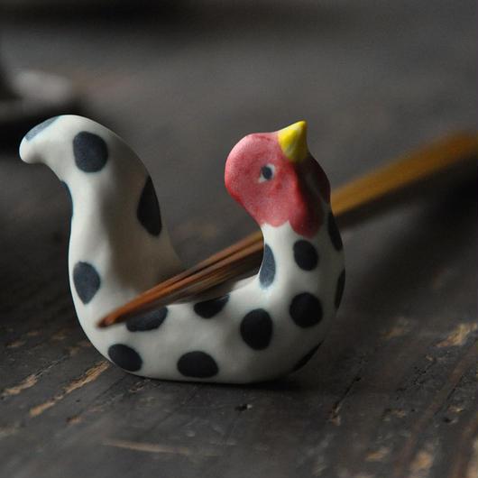 鶏の箸置 (マット)