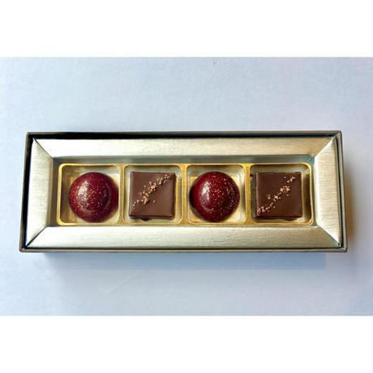 【プレスキル ショコラトリー】ボンボンショコラ甲州(ラフィーユ)4個入り