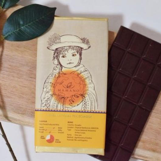 【ママノチョコレート】ママノカカオレットタブレット 70%ダーク アリバナショナルエクアドル