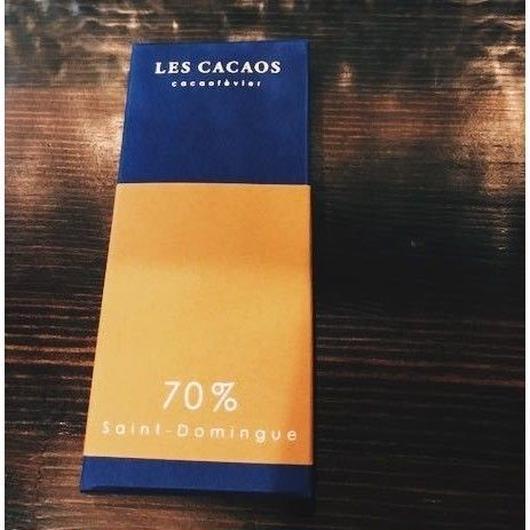 【レ カカオ】タブレット ショコラ サン ドマング 70%(ドミニカ)
