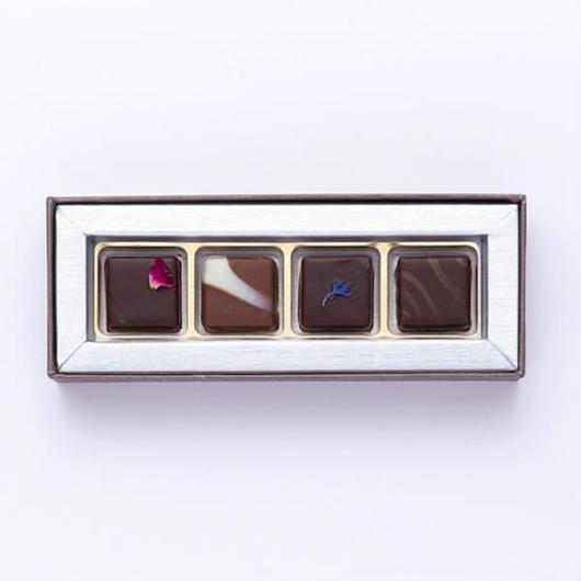【プレスキル ショコラトリー】ビオロジ ドゥ ボンボン4個入り