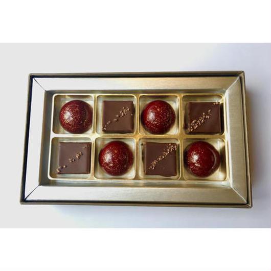 【プレスキル ショコラトリー】ボンボンショコラ甲州(ラフィーユ)8個入り