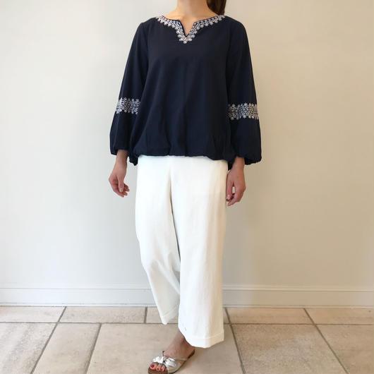 インド綿レース刺繍*ブラウス(81FB007)