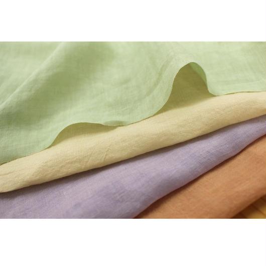 心地いい清涼感 fanage リネン100% 60番手糸使用 平織り生地/1m