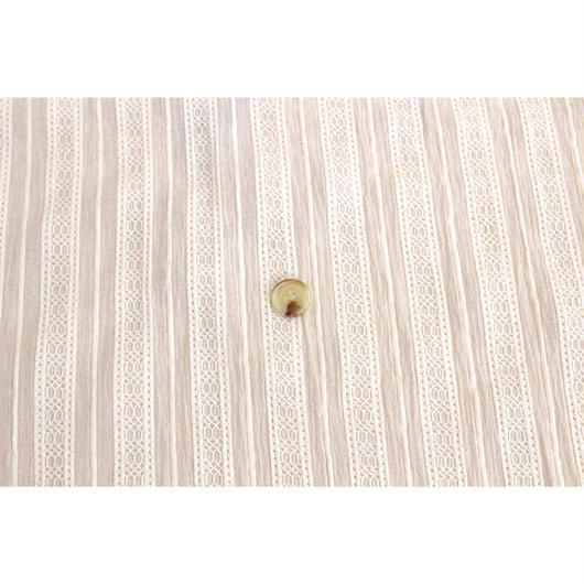 【立体感がおしゃれ】 fanageコットン100%  からみ織り生地/1m