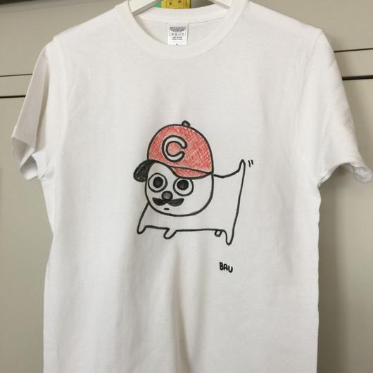 手描きの広島カープばうTシャツ