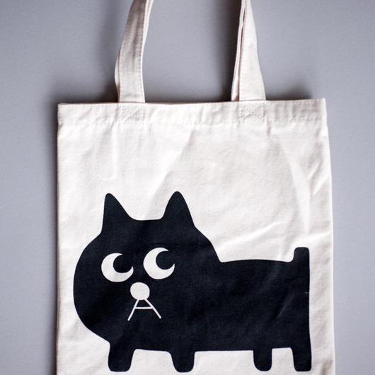 黒猫の小林さんのトートバッグ(厚手A4サイズ入ります)
