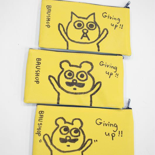かわいくて目立つバウのポーチ「Giving up!!」といろいろ です。