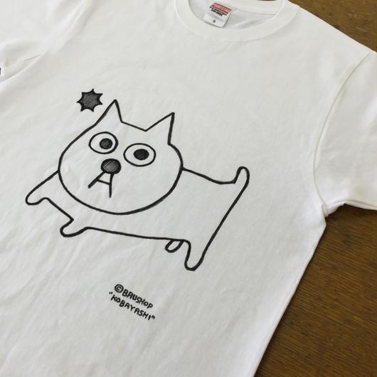 バウTシャツ  手描き一点モノシリーズ 猫の小林さん、ラッシー犬などなど キッズサイズもあるよ。