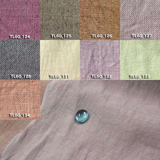 Fanage linen(天日干しリネン)100%生地 TL60  124〜134 60番手使用