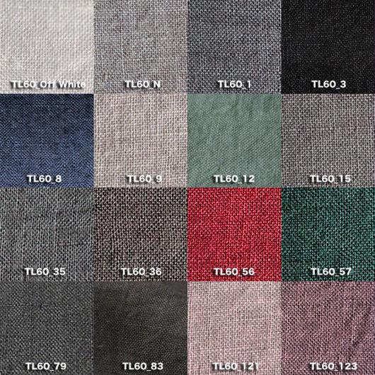 Fanage linen(天日干しリネン)100%生地 TL60  OW〜123 60番手使用