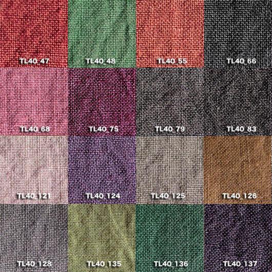 Fanage linen(天日干しリネン)100%生地 TL40 中 47〜137 40番手使用