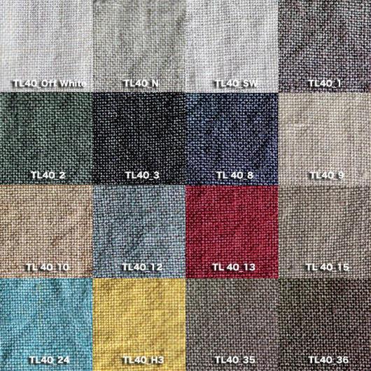 Fanage linen(天日干しリネン)100%生地  TL40  OW〜36 40番手使用