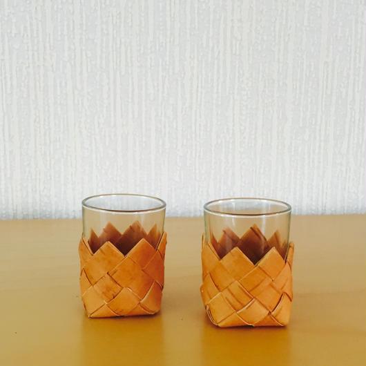 白樺細工/Näver/ネーバーのショットグラス/2個セット
