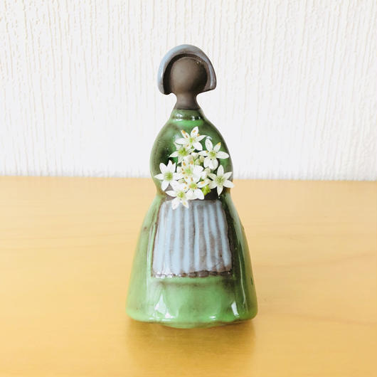 Jie Gantofta/ジイガントフタ/フラワーガール/グリーン色の民族衣装/13cm