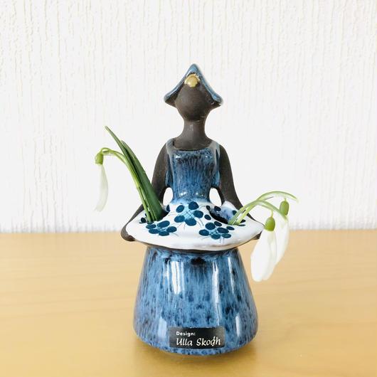 DECO/デコ/フラワーガール/ハンドペイント/花柄エプロン/13cm