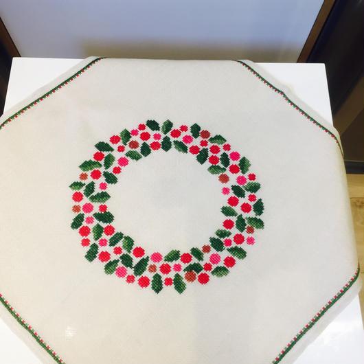 刺繍のセンタークロス/リネン
