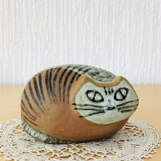 Gustavsberg/グスタフスベリ/Lisa Larson/リサ ラーソン/Lilla Zoo/小さなズーシリーズ/丸いネコ