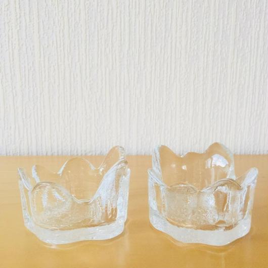 Royal Krona/ローヤルクローナ/ガラスの木の株キャンドルホルダー/2個セット