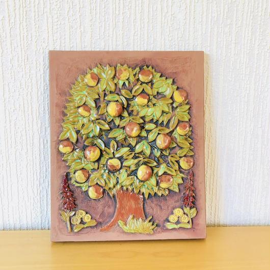 Jie Gantofta/ジィガントフタ/陶板/リンゴの木