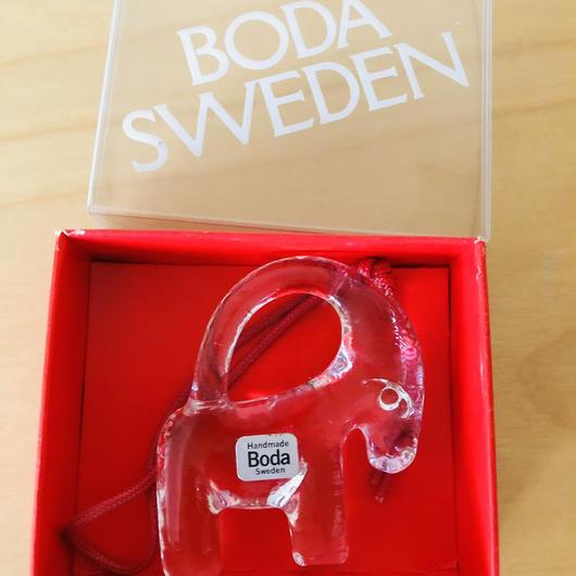 Boda/ボーダ/ガラスのオーナメント/ヤギさん/箱入り新品