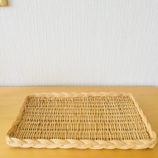 手編みの長方形トレイ