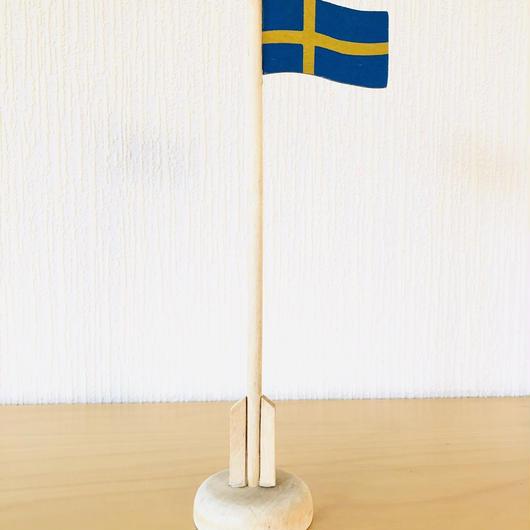 スウエーデンの国旗/木製