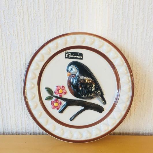 DECO/デコ/陶板/小鳥とお花
