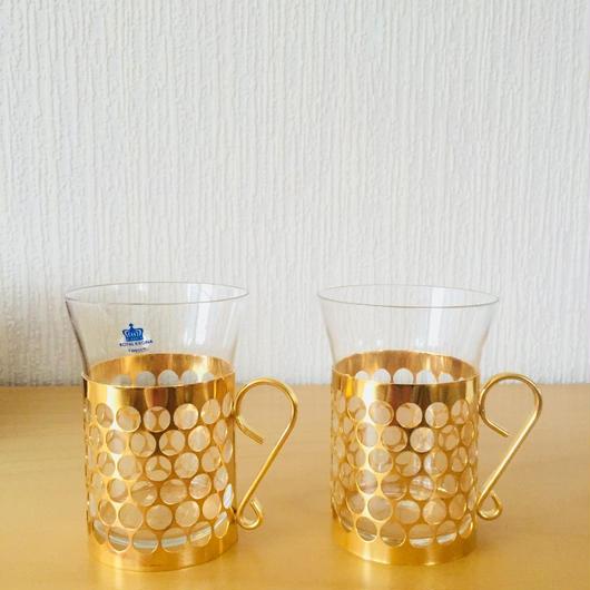 Royal Krona/ローヤルクローナ/アイリッシュコーヒーグラス/2個セット/箱付き