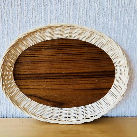 手編みのスタイリッシュなトレイ/オーバル型