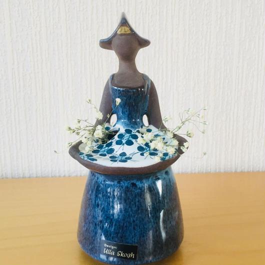 DECO/デコ/フラワーガール/ハンドペイント/花柄エプロン