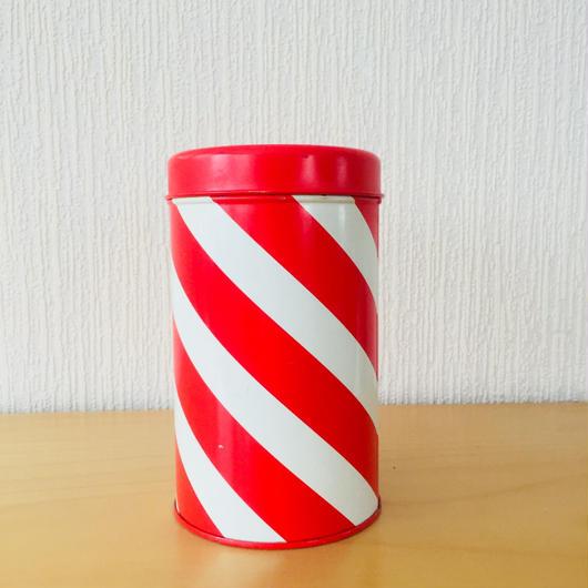 Aarikka/アーリッカ/ストライプロングティン缶/レッド