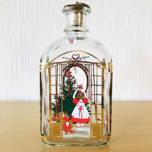 Holmegaard/ホルムガード/リキュールボトル/クリスマスモチーフ/2001年