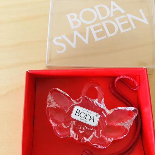 Boda/ボーダ/ガラスのオーナメント/エンジェル/箱入り新品