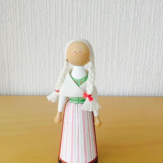 Hemslöjd/手描きの人形/木製