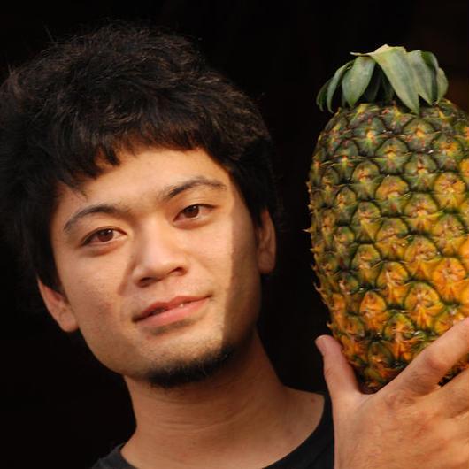 上地さんの超デカ パイナップル